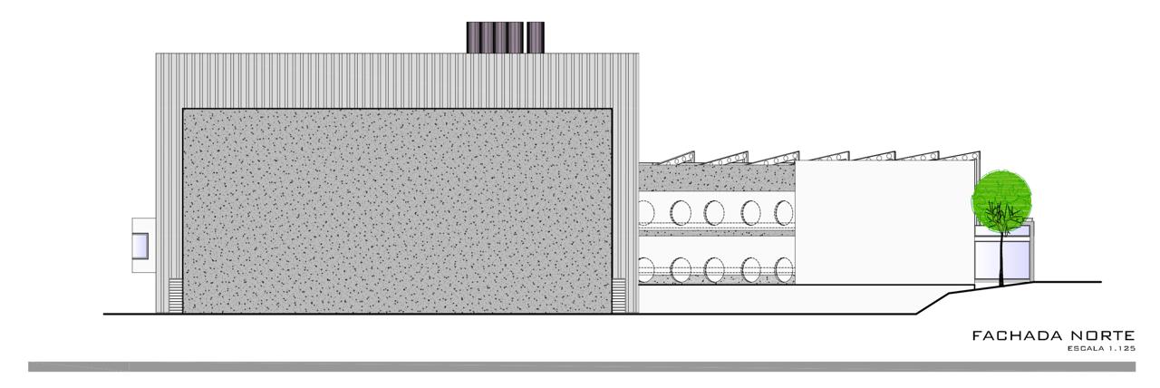 fachada norte