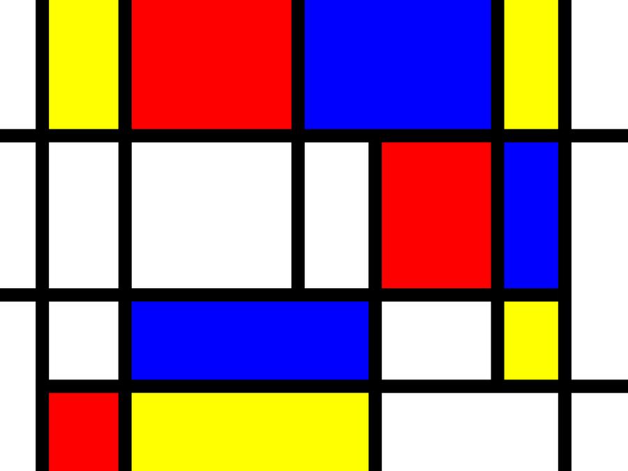 Mondrian grid